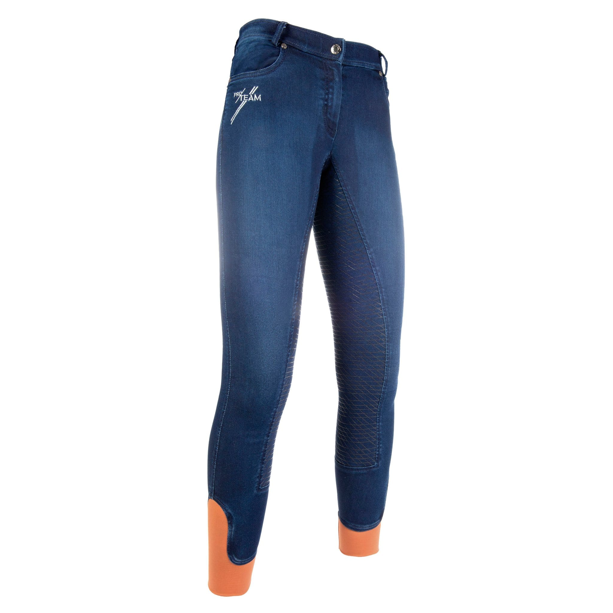 HKM Pro Team Hickstead Silicone Full Seat Riding Jeggings Studio Front View 10736/6100