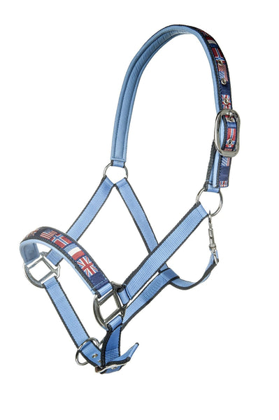 HKM Pro Team International Headcollar in Middle Blue
