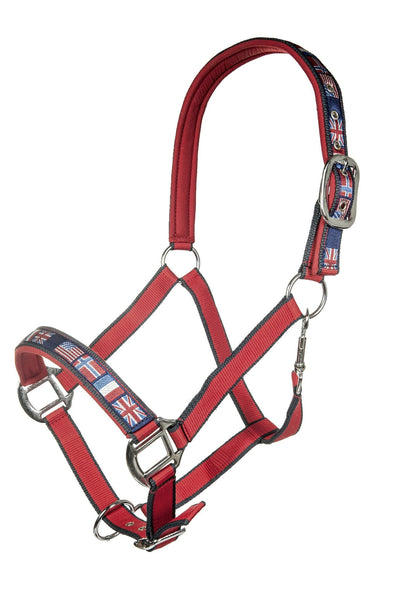 HKM Pro Team International Headcollar in Red