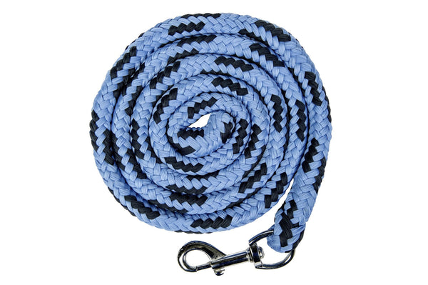 HKM Pro Team International Lead Rope with Snap Clip in Middle Blue