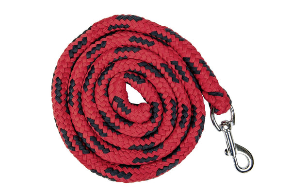 HKM Pro Team International Lead Rope with Snap Clip in Red