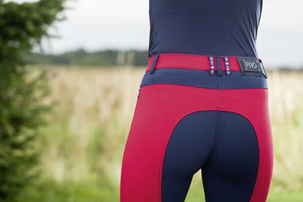 HKM Pro Team International Silicone Knee Patch Breeches Rear Inset