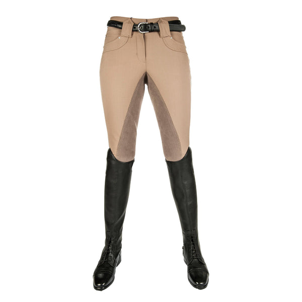 HKM Pro Team Mrs Blink Full Seat Breeches with Elasticated Ankle Beige 8505