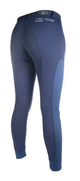 HKM Pro Team Neon Sports Contrast Silicone Full Seat Breeches