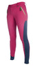 HKM Pro Team Neon Sports Contrast Silicone Full Seat Breeches - 24 (6) / Pink | EQUUS
