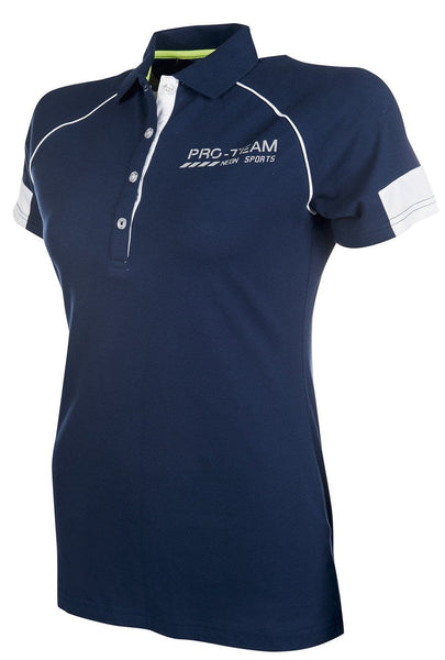 HKM Pro Team Neon Sports Polo Shirt - XS (8) / Navy | EQUUS