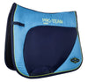 HKM Pro Team Neon Sports Saddle Cloth - Pony / Dressage / Navy | EQUUS