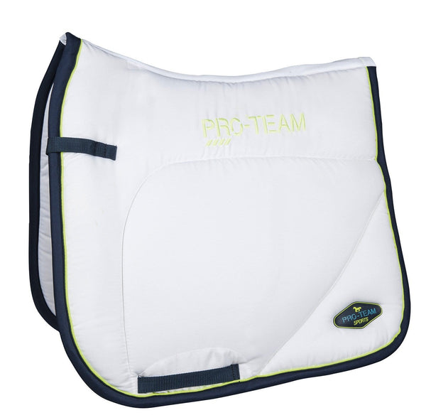 HKM Pro Team Neon Sports Saddle Cloth - Pony / Dressage / White | EQUUS