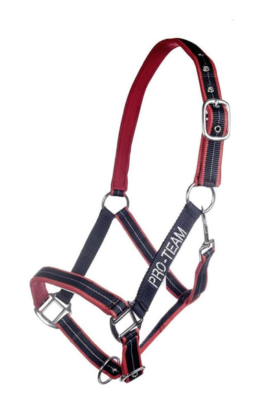 HKM Pro Team Performance Head Collar Deep Blue and Red 8760_6930