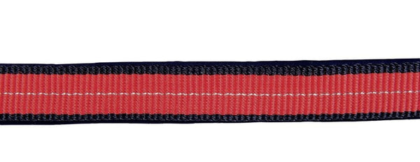 HKM Pro Team Performance Head Collar Red and Dark Blue Close Up 8760_3069