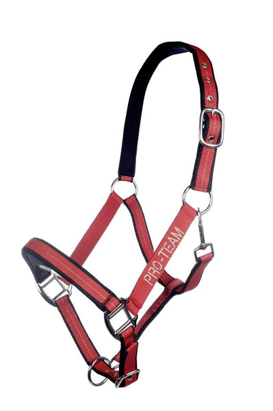 HKM Pro Team Performance Head Collar Red and Dark Blue 8760_3069