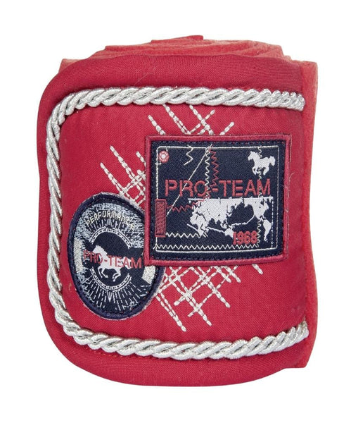 HKM Pro Team Performance Polar Fleece Bandages Red 8758/3000