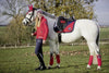 HKM Pro Team Performance Polar Fleece Bandages Red On Horse 8758/3000
