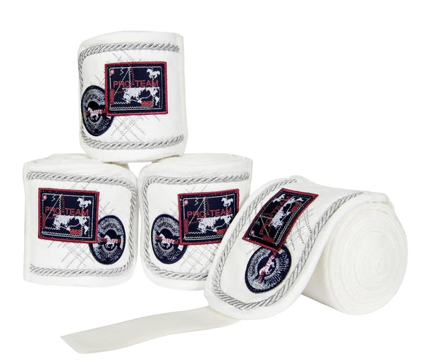 HKM Pro Team Performance Polar Fleece Bandages White 8758/1200