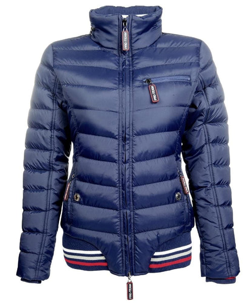 HKM Pro Team Performance Quilted Jacket Deep Blue 8744/6900
