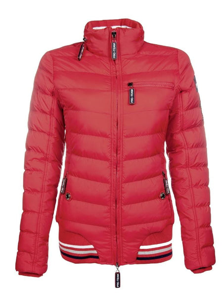 HKM Pro Team Performance Quilted Jacket Red 8744/3000