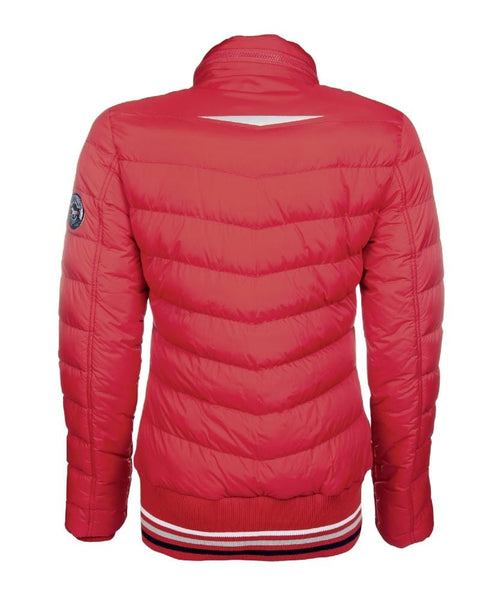 HKM Pro Team Performance Quilted Jacket Red Rear View 8744/3000