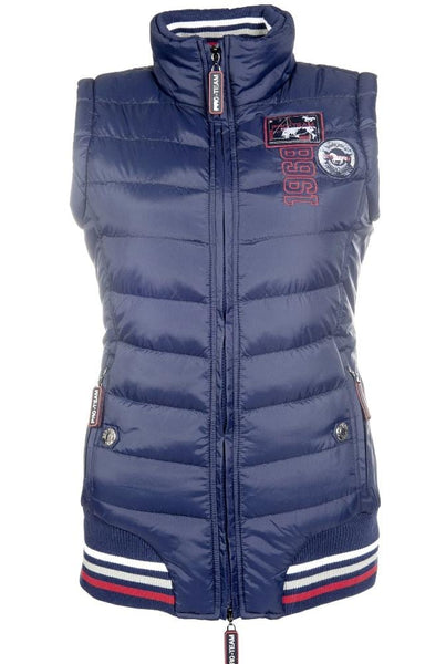 HKM Pro Team Performance Quilted Vest Deep Blue 8745/6900