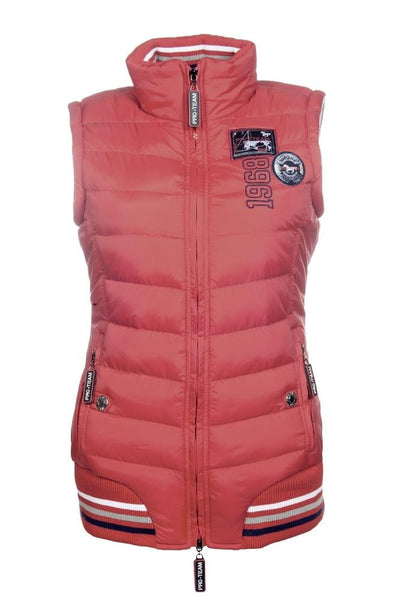 HKM Pro Team Performance Quilted Vest Red 8745/3000