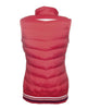 HKM Pro Team Performance Quilted Vest Red Rear View 8745/3000