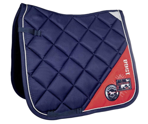 HKM Pro Team Performance Saddle Cloth Deep Blue and Red 8756/6930
