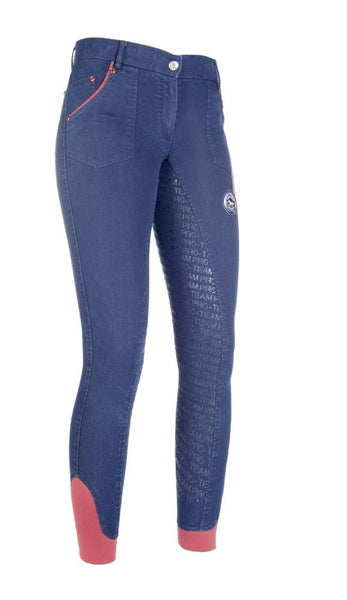 HKM Pro Team Performance Jeggings Full Seat Breeches Studio Front 8752/6100