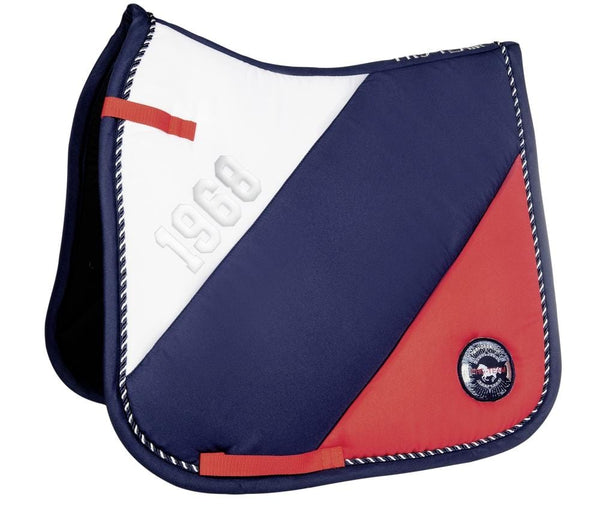 HKM Pro Team Performance Sport Saddle Cloth Red White Navy 8819/8322