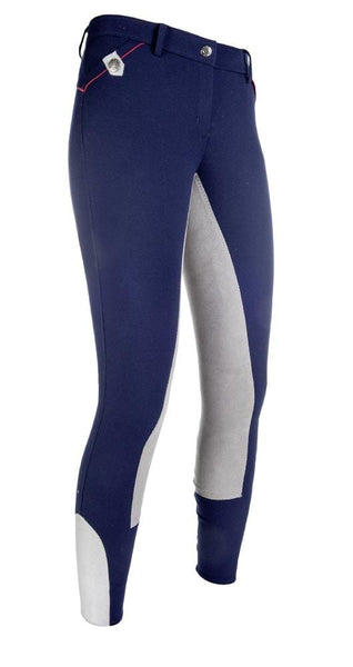 HKM Pro Team Performance Sports 3/4 Alos Seat Breeches Deep Blue Studio 9169/6995