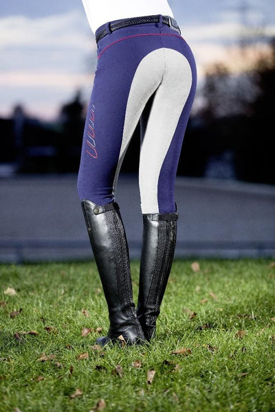 HKM Pro Team Performance Sports 3/4 Alos Seat Breeches Deep Blue Lifestyle 9169/6995