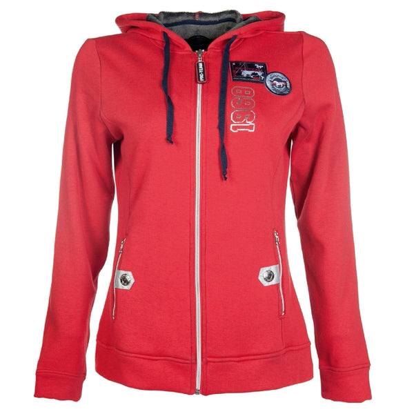 HKM Pro Team Performance Ladies Hooded Riding Top Studio Front View 8747/3000