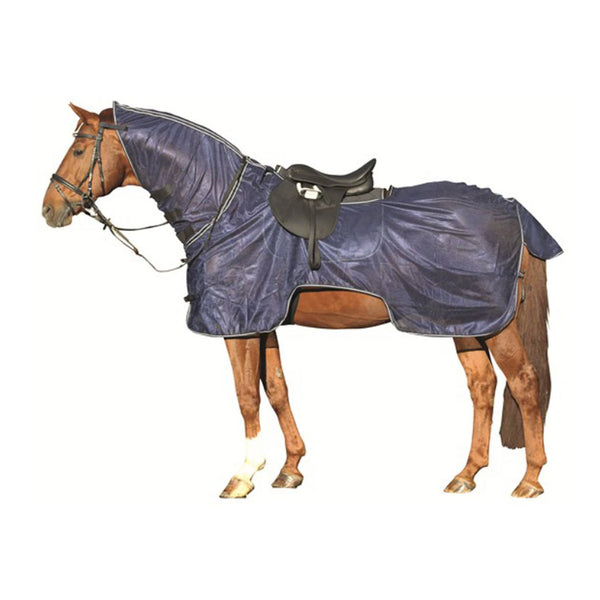 HKM Ride-On Fly Rug With Neck Deep Blue 3045