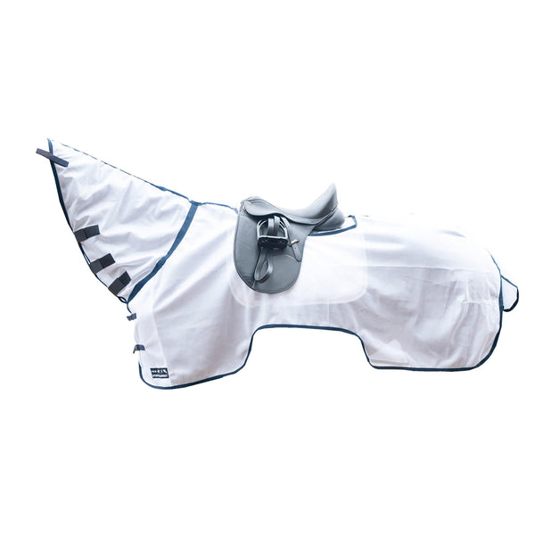 HKM Ride-On Fly Rug With Neck White 3045