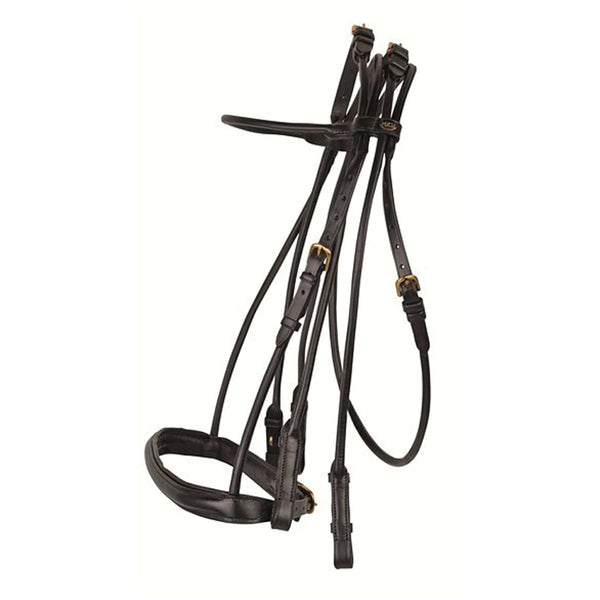 HKM Rolled Leather Double Bridle Studio 6076
