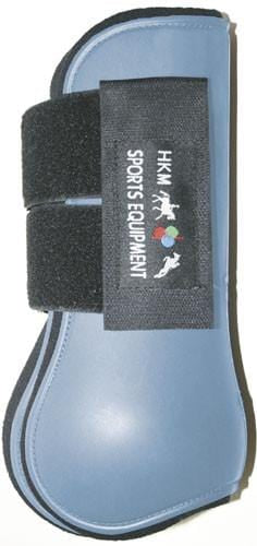 HKM Softopren Tendon Boots in Baby Blue and Black