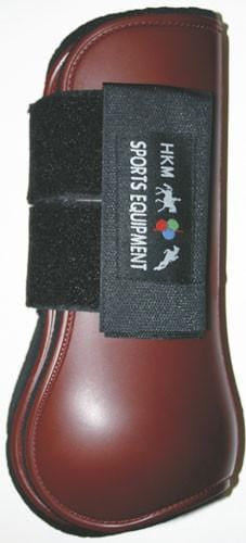 HKM Softopren Tendon Boots in Dark Red