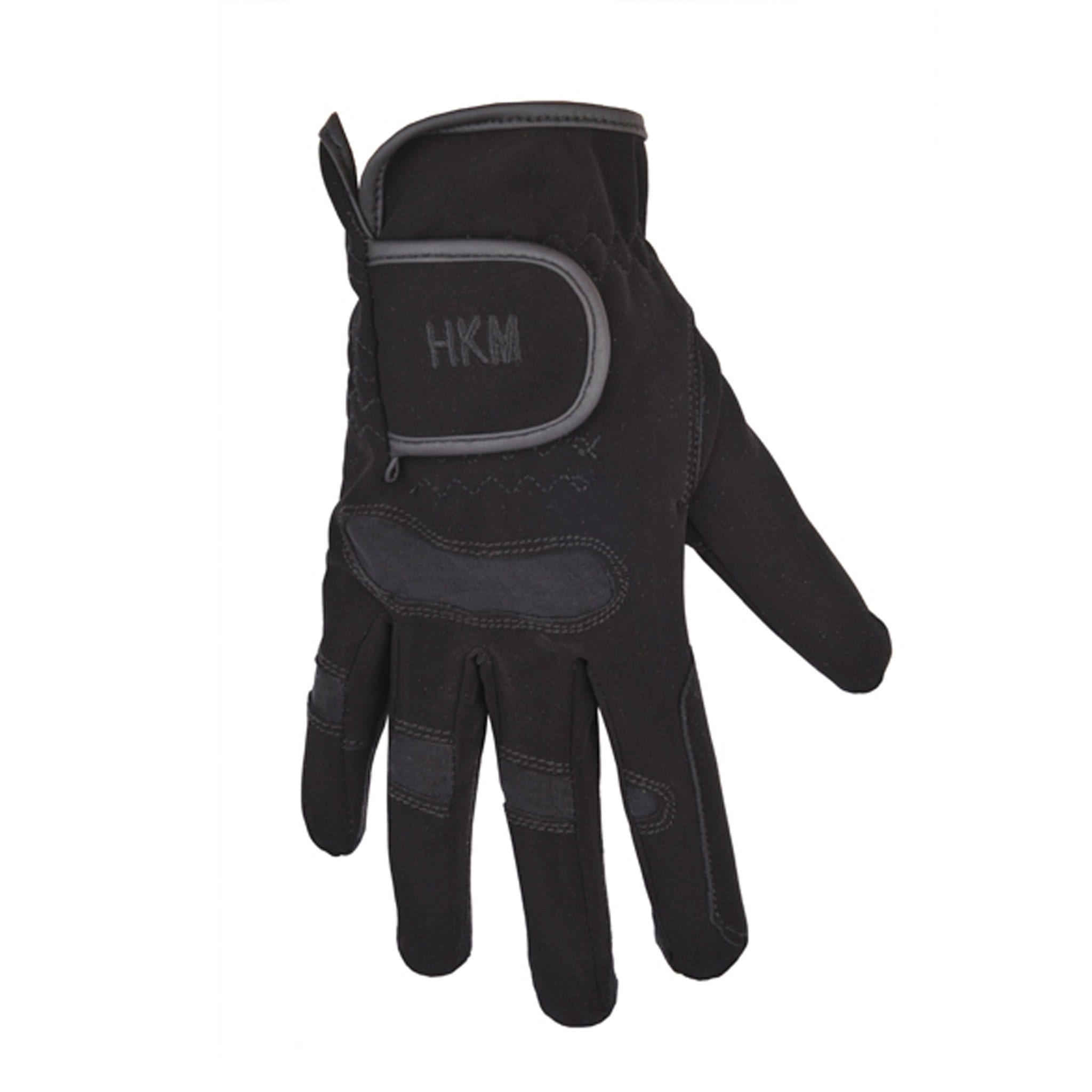 HKM Children's Softy Riding Glove with Elasticated Vent - EQUUS 1301 Black