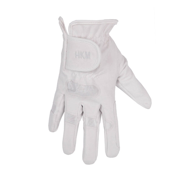 HKM Softy Riding Glove in White