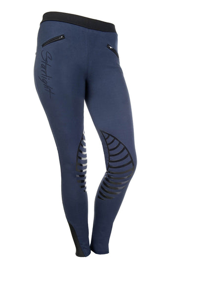 HKM Starlight Silicone Knee Patch Riding Tights