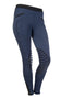 HKM Starlight Silicone Knee Patch Riding Tights - 24 (UK6) / Navy and Black | EQUUS