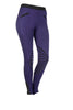 HKM Starlight Silicone Knee Patch Riding Tights - 24 (UK6) / Lilac and Black | EQUUS