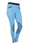 HKM Starlight Silicone Knee Patch Riding Tights - 24 (UK6) / Turquoise and Black | EQUUS