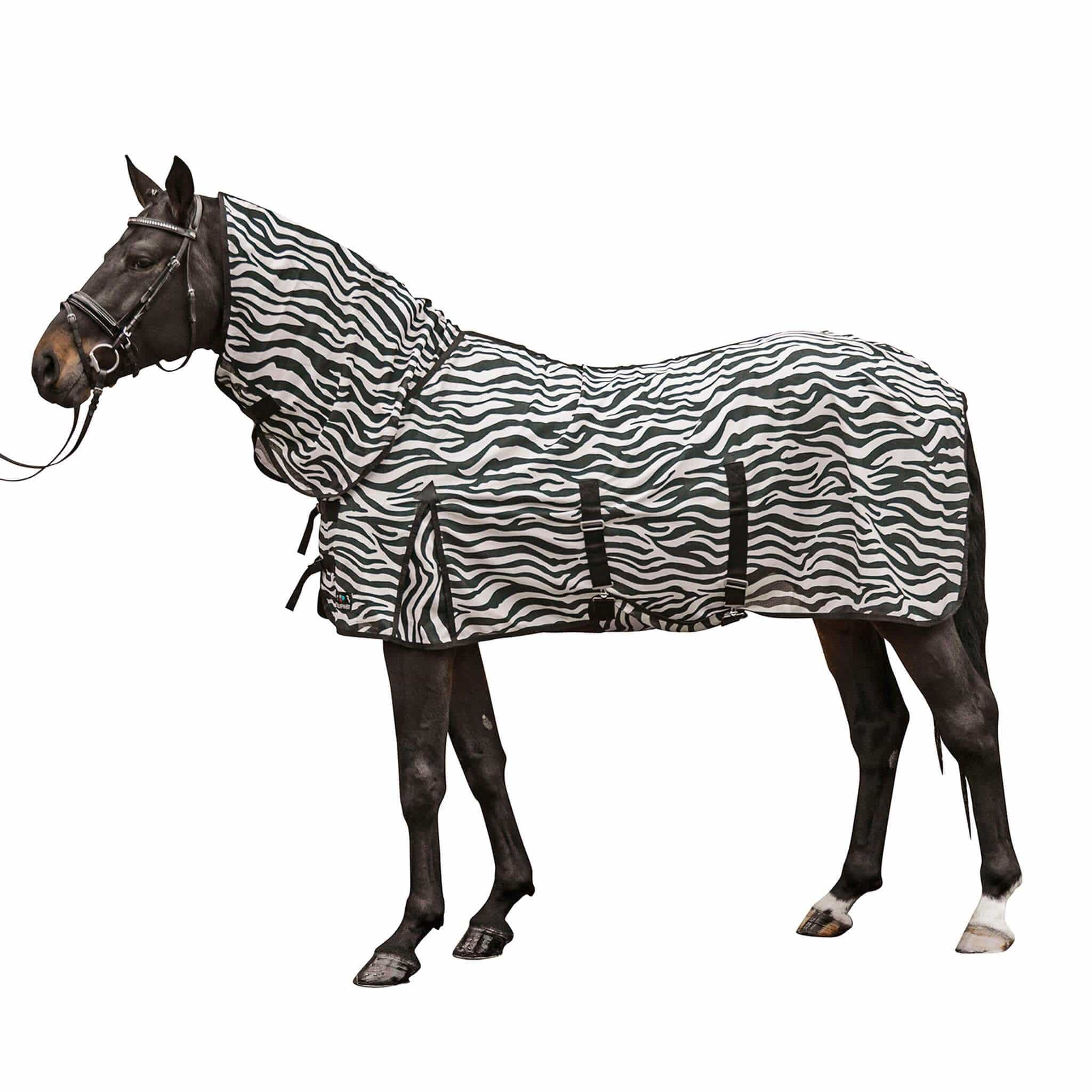 HKM Zebra Fly Rug with Neck