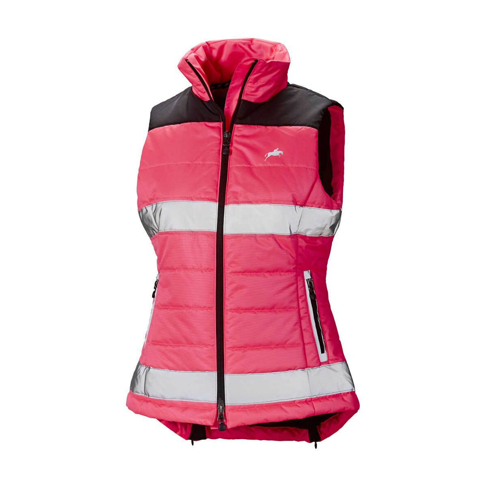 Harry Hall Hi Viz Women's Gilet Pink Front View HHL1880