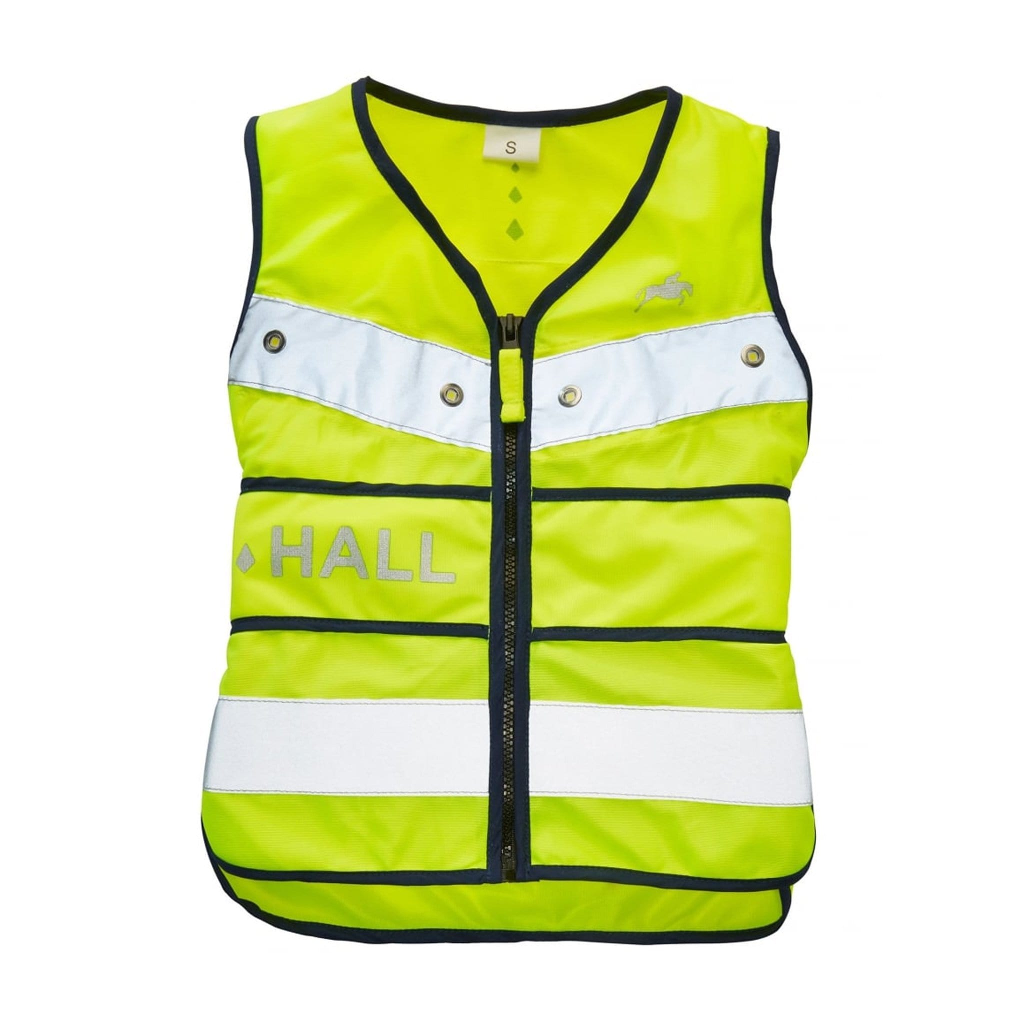 Harry Hall Hi Viz junior Adjustable Tabard Front View HHL1950