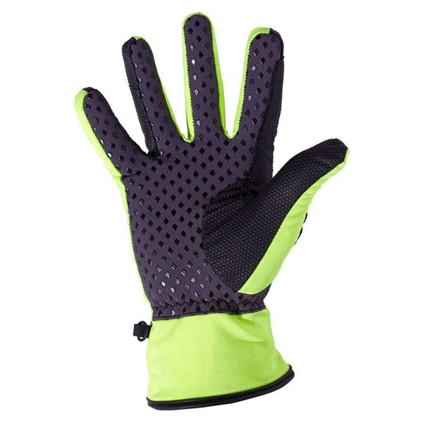 Harry Hall Softshell Riding Gloves Yellow Palm HHL1545