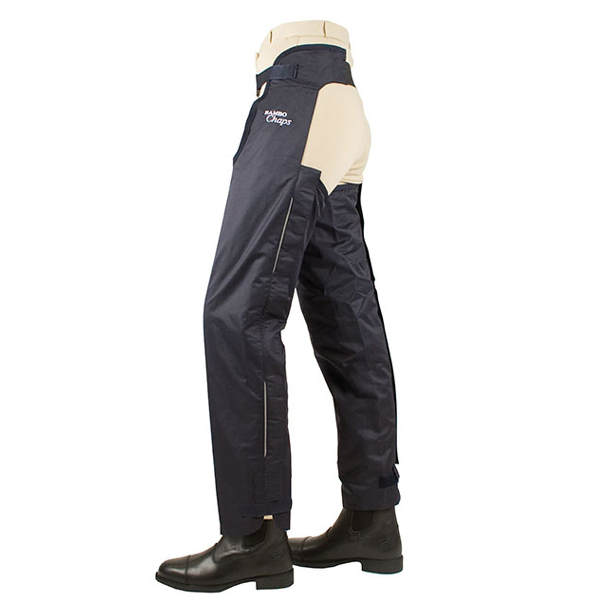 Horseware Rambo Full Leg Cotton Lined Chaps Navy CLAC0C.