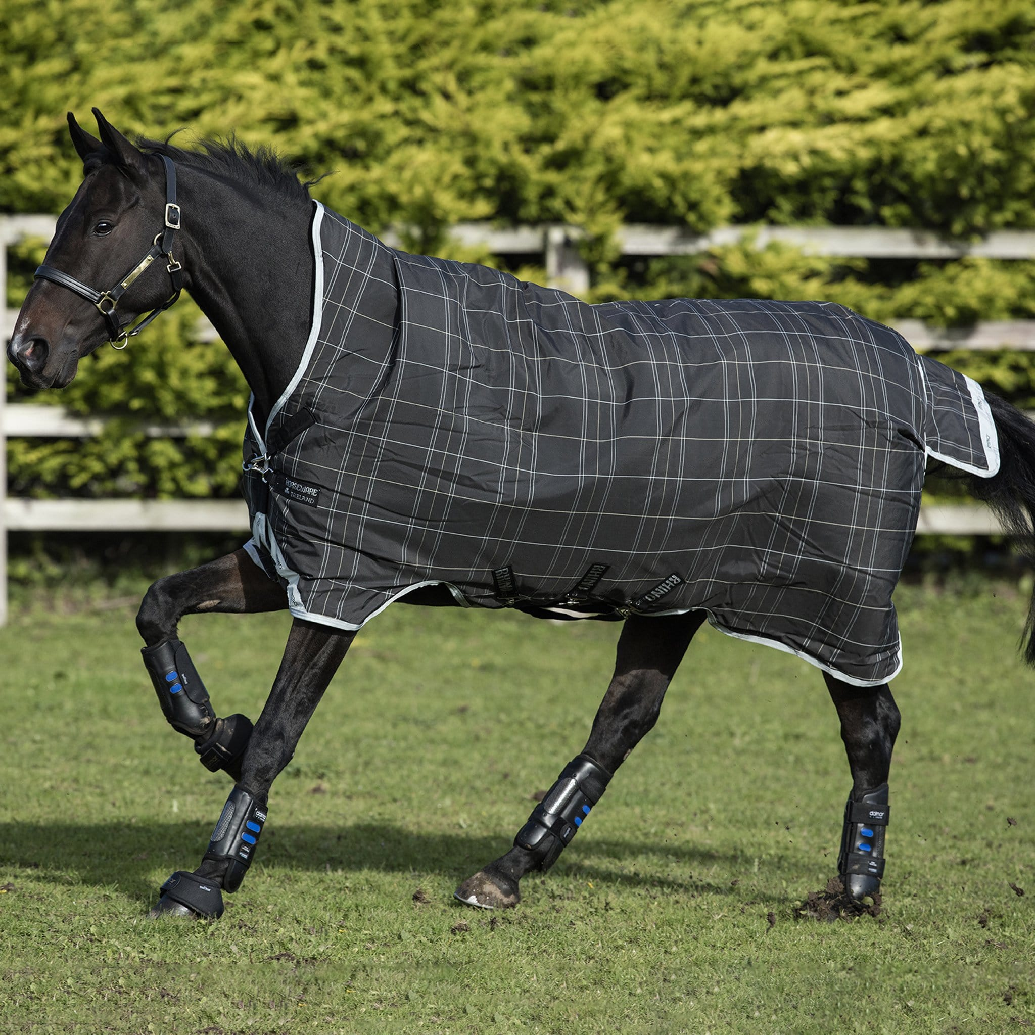 Rhino Wug with Vari-Layer Heavyweight 450g Standard Neck Turnout Rug AABWV4 Side.