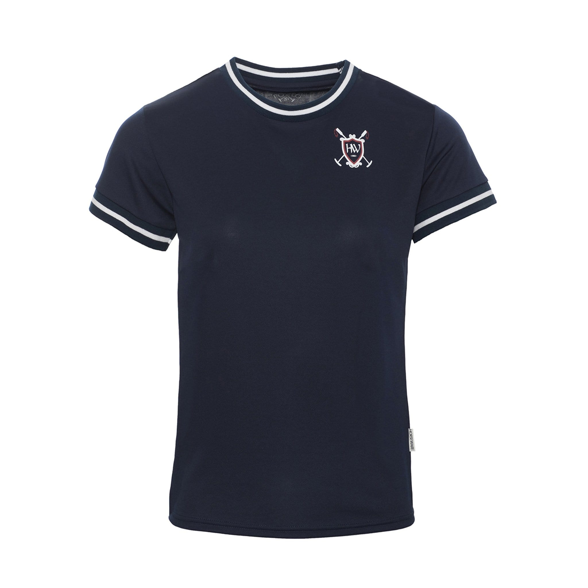 Horseware Technical Tee Shirt Navy Front CJNBLT