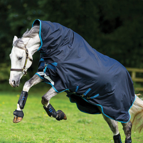 Horseware Amigo Bravo 12 All-In-One Heavy 400g Turnout Rug Leaping Horse AARE73