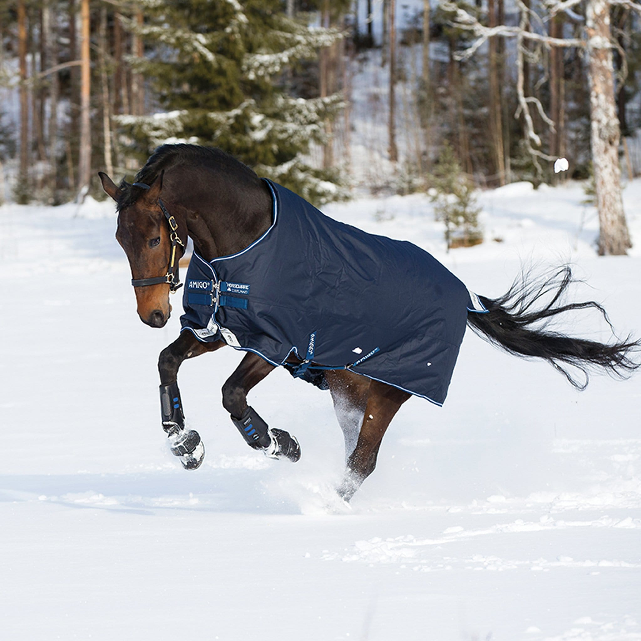Amigo Bravo 12 Original Heavyweight 400g Standard Neck Turnout Rug in the Snow AARA43